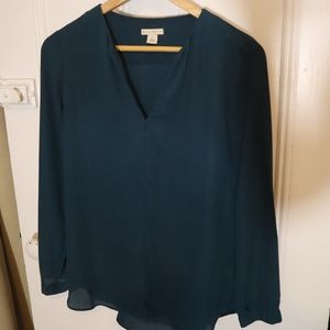 Mercer & Madison Flowy Teal Top | S